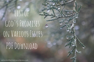 List of God's Promises on Various Issues - PDF Download